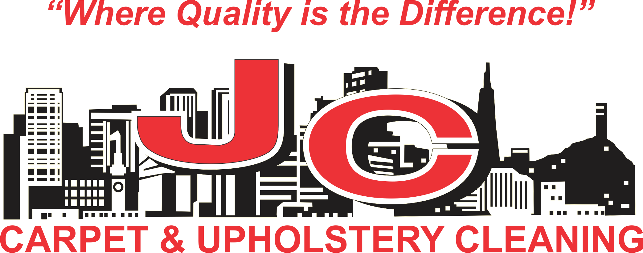 Where Quality Is the Difference! JC Carpet & Upholstery Cleaning Logo